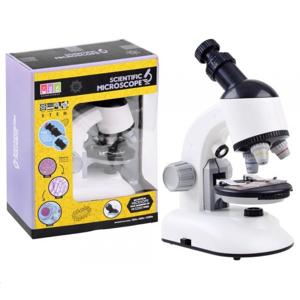 Mikroskop s príslušenstvom biely